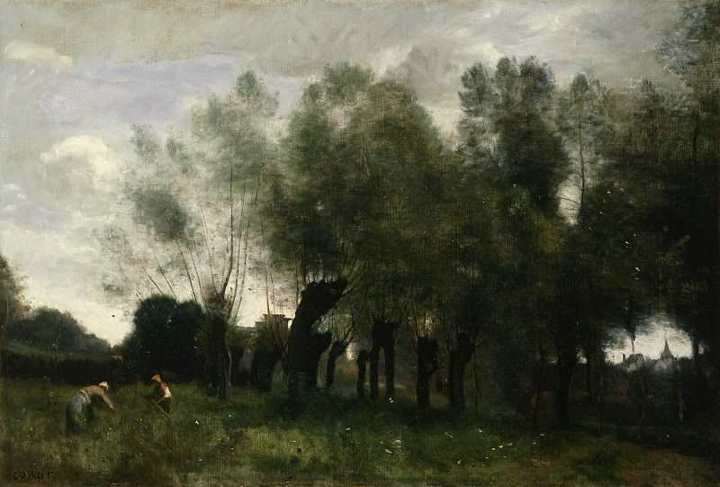 Jean-Baptiste-Camille Corot, French, 1796-1875 -- Pollard Willows. Philadelphia Museum of Art