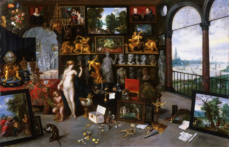 Allegory of Sight (Venus and Cupid in a Picture Gallery). Jan Brueghel the Younger
