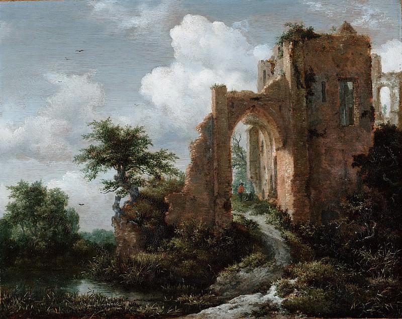 Рейсдаль, Якоб Исакс ван (1628/29 Харлем - 1682 Амстердам) -- Въездные ворота замка Бредероде. Музей искусств Филадельфии