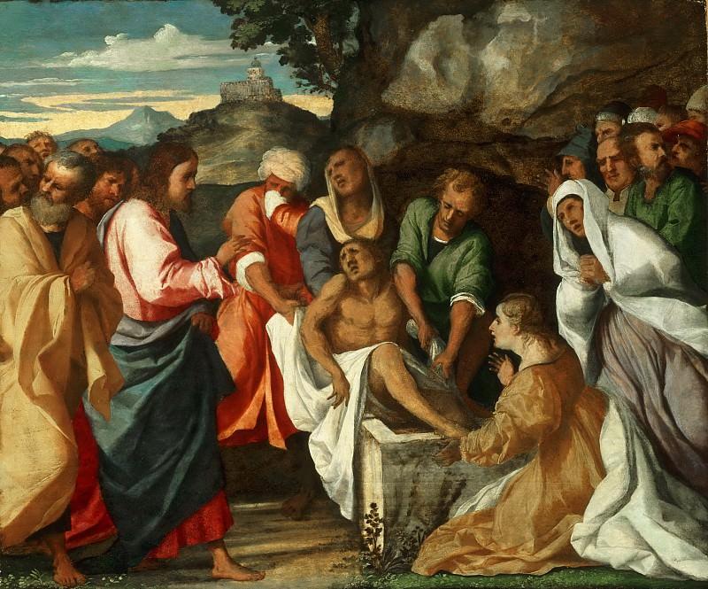 Palma il Vecchio (Jacopo d'Antonio Negretti), Italian (active Venice), first documented 1510, died 1528 -- The Raising of Lazarus. Philadelphia Museum of Art