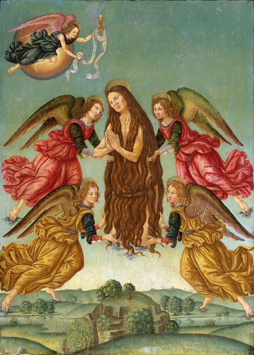Master of the Johnson Ascension of Saint Mary Magdalene, Italian (active Florence), active c. 1500 -- The Ascension of Saint Mary Magdalene. Philadelphia Museum of Art