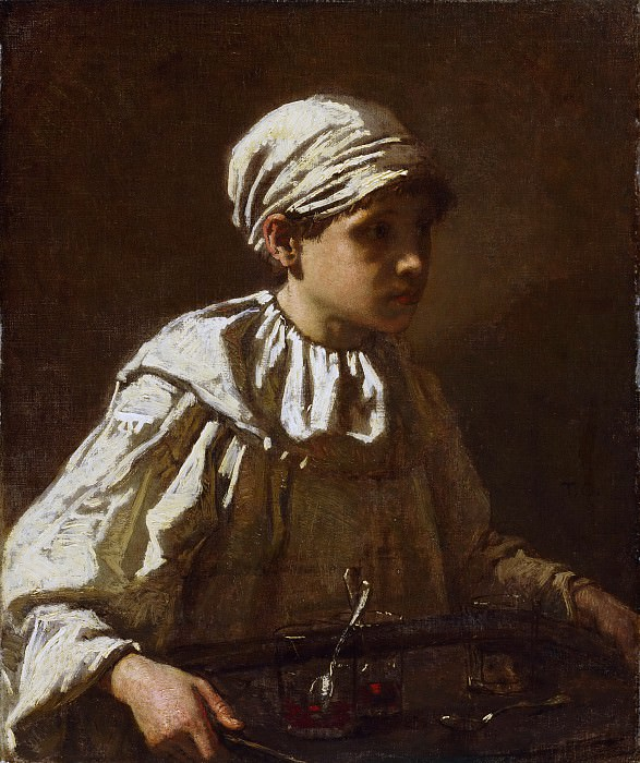 Thomas Couture, French, 1815-1879 -- The Little Confectioner. Philadelphia Museum of Art