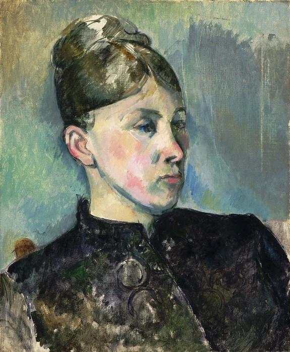 Paul Cézanne, French, 1839-1906 -- Portrait of Madame Cézanne. Philadelphia Museum of Art