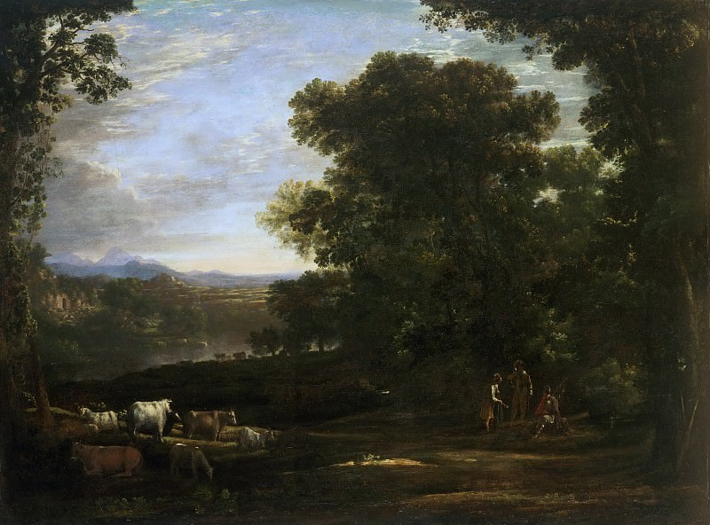 Claude Gellée, also called Claude Lorrain, French, 1600-1682 -- Landscape with Cattle and Peasants. Philadelphia Museum of Art