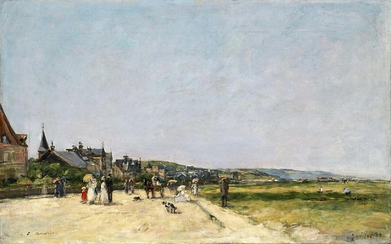 Eugène-Louis Boudin, French, 1824-1898 -- Deauville, the Terrace. Philadelphia Museum of Art