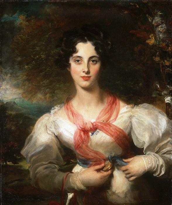 Лоуренс, Томас (1769 Бристоль - 1830 Лондон) -- Харриотт Уэст (позднее миссис Уильям Вудгейт). Музей искусств Филадельфии
