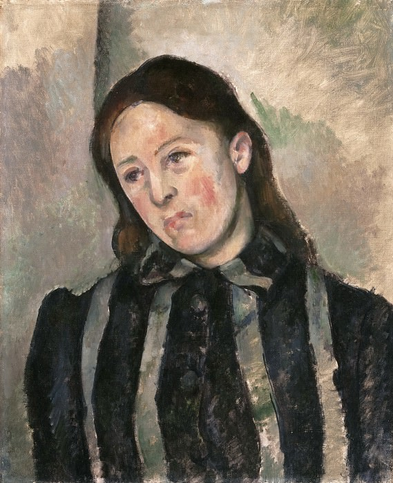 Paul Cézanne, French, 1839-1906 -- Portrait of Madame Cézanne. Philadelphia Museum of Art