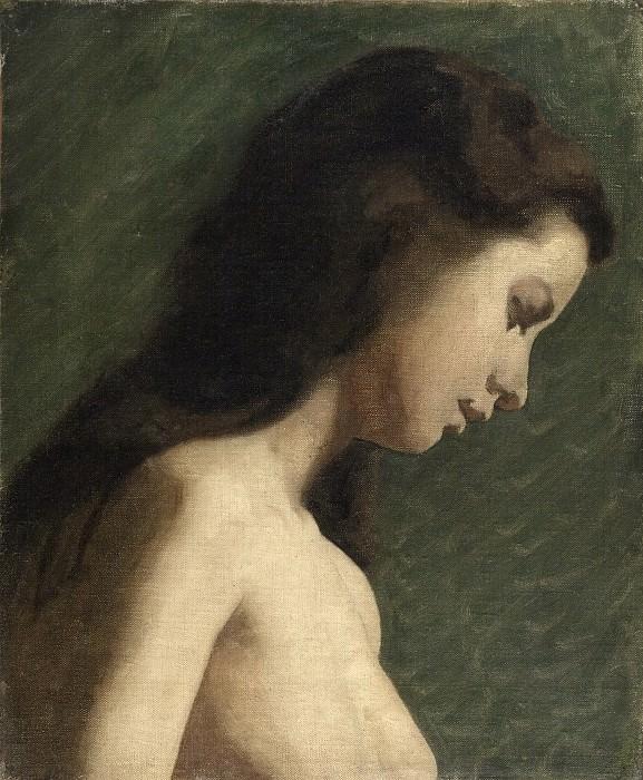 Thomas Eakins, American, 1844-1916 -- Study of a Young Woman. Philadelphia Museum of Art