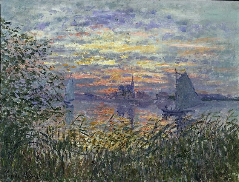 Claude Monet, French, 1840-1926 -- Marine View with a Sunset. Philadelphia Museum of Art