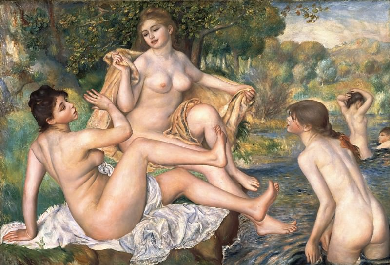 Pierre-Auguste Renoir, French, 1841-1919 -- The Great Bathers. Philadelphia Museum of Art