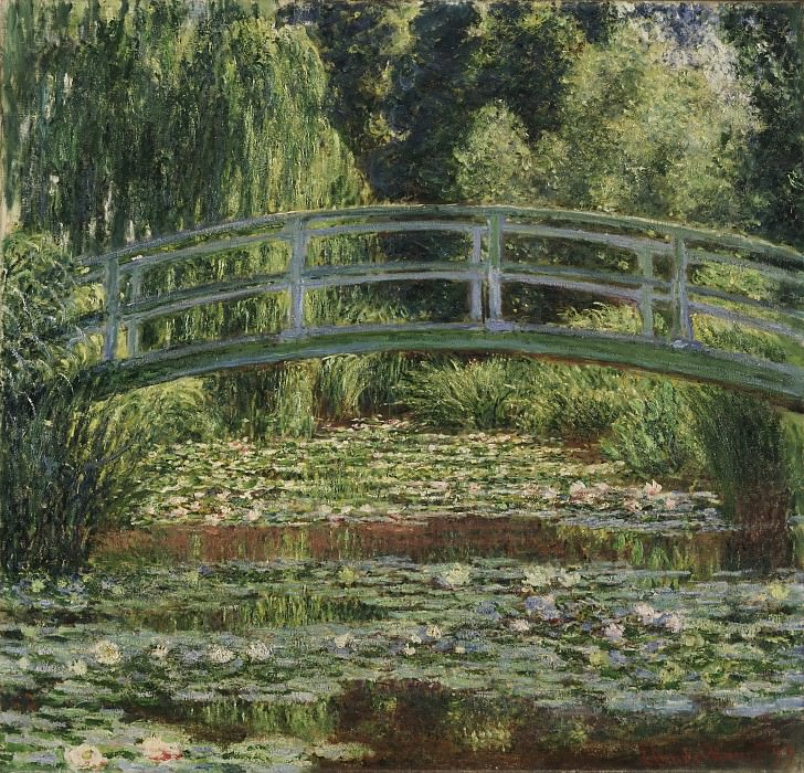 Claude Monet, French, 1840-1926 -- The Japanese Footbridge and the Water Lily Pool, Giverny. Philadelphia Museum of Art