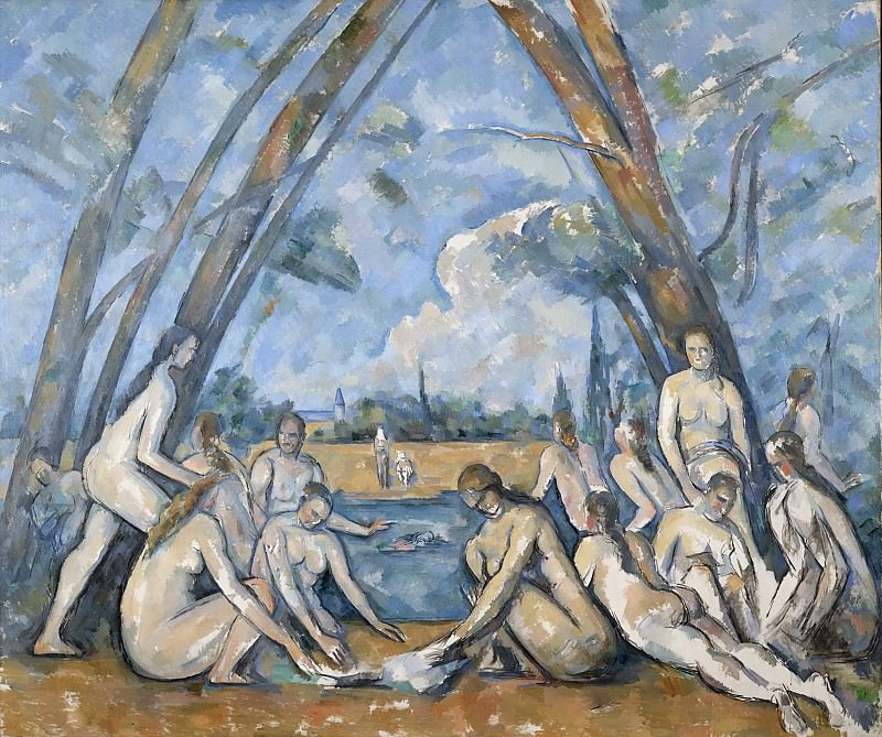 Paul Cézanne, French, 1839-1906 -- The Large Bathers. Philadelphia Museum of Art