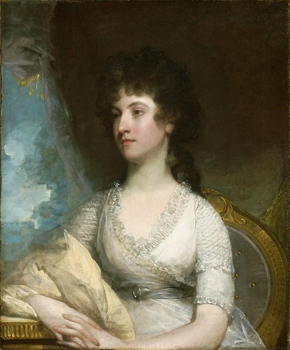 Стюарт, Гилберт (1755 Норт Кингстон - 1828 Бостон) -- Френсис Кадуоладер Монтагю, леди Эрскин. Музей искусств Филадельфии