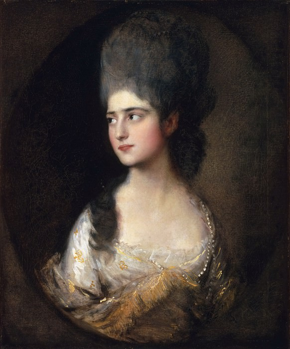 Гейнсборо, Томас (1727 Садбери - 1788 Лондон) - Портрет Элизабет Линли (впоследствии миссис Ричард Бринсли Шеридан). Музей искусств Филадельфии