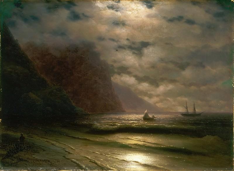 Айвазовский, Иван Константинович (1817-1900) -- Скалистое побережье. Музей искусств Филадельфии