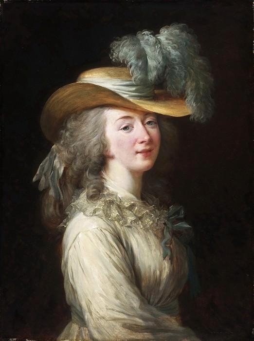 Louise-Elisabeth Vigée-Lebrun, French, 1755-1842 -- Portrait of Madame Du Barry. Philadelphia Museum of Art