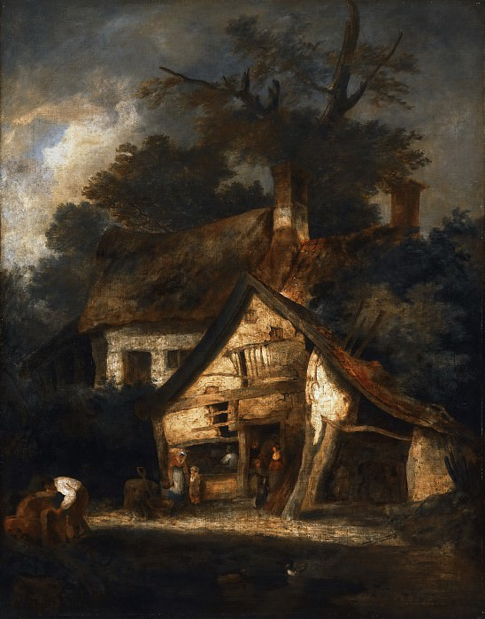 John Crome, English, 1768-1821 -- Blacksmith's Shop near Hingham, Norfolk. Philadelphia Museum of Art