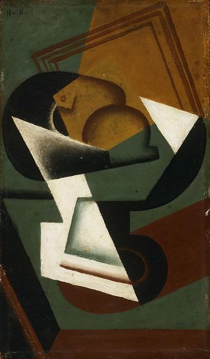 Грис, Хуан (1887 Мадрид - 1927 Булонь-сюр-Сен 1927) -- Тарелка с фруктами. Музей искусств Филадельфии