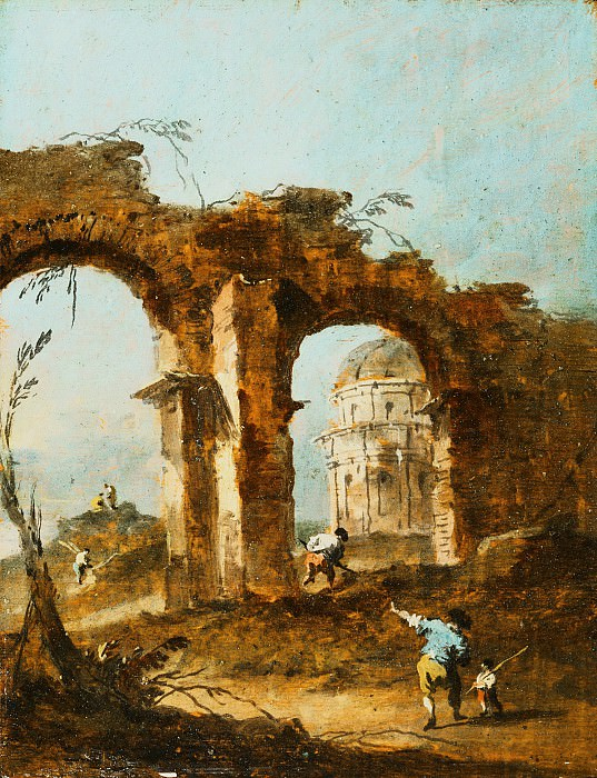 Francesco Guardi, Italian (active Venice), 1712-1793 -- Capriccio. Philadelphia Museum of Art