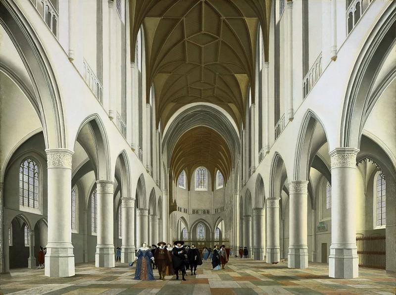 Санредам, Питер Янс (1597 Ассенделфт - 1665 Харлем) -- Интерьер собора святого Бавона, Харлем. Музей искусств Филадельфии