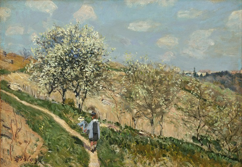 Alfred Sisley, French, 1839-1899 -- Landscape (Spring at Bougival). Philadelphia Museum of Art