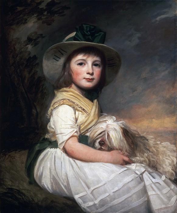 George Romney, English, 1734-1802 -- Portrait of Marianne Holbech. Philadelphia Museum of Art