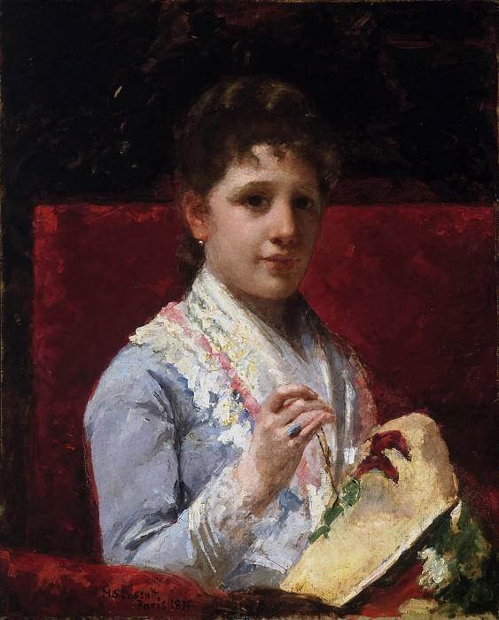 Кэссет, Мэри (1844-1926) - Мэри Эллисон за вышиванием. Музей искусств Филадельфии