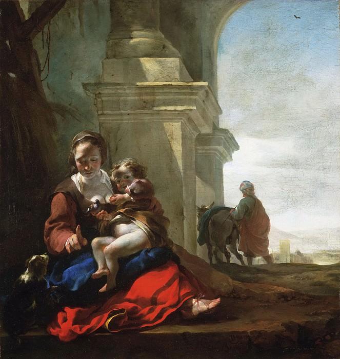 Веникс, Ян Батист (1621 Амстердам - 1660 Дотинхем) -- Отдых на пути в Египет. Музей искусств Филадельфии