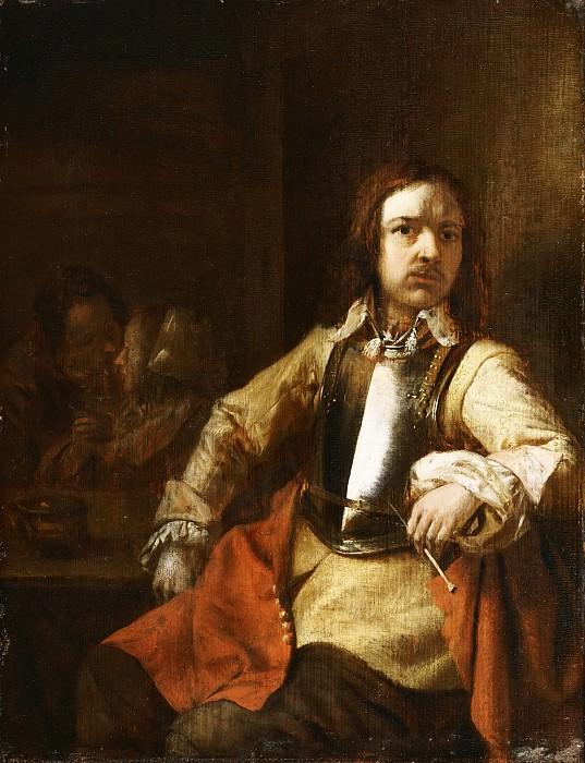 Хох, Питер де (1629 Роттердам - 1684 Амстердам) -- Курящий солдат. Музей искусств Филадельфии