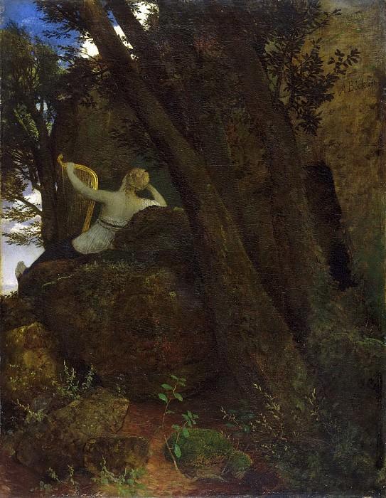 Arnold Böcklin, Swiss, 1827-1901 -- Sappho. Philadelphia Museum of Art