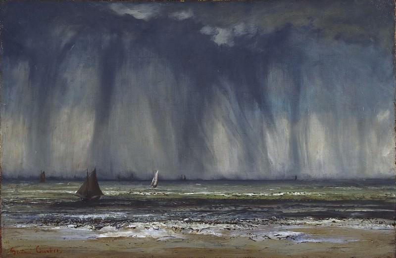 Курбе, Гюстав (1819-1877) - Морской пейзаж. Музей искусств Филадельфии