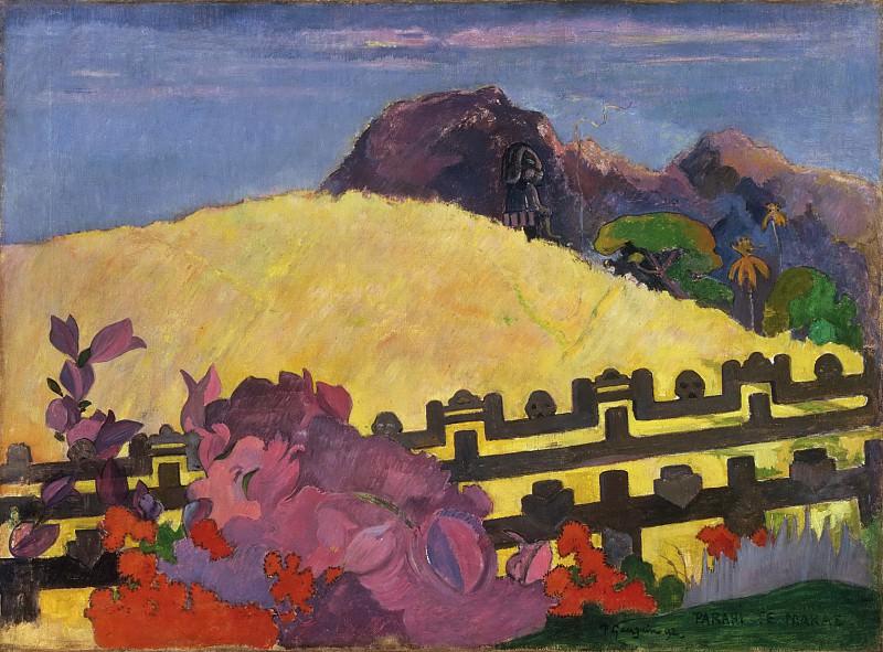 Paul Gauguin, French, 1848-1903 -- The Sacred Mountain (Parahi Te Marae). Philadelphia Museum of Art