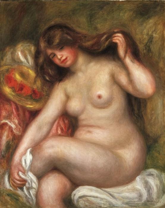 Pierre-Auguste Renoir, French, 1841-1919 -- Large Bather. Philadelphia Museum of Art