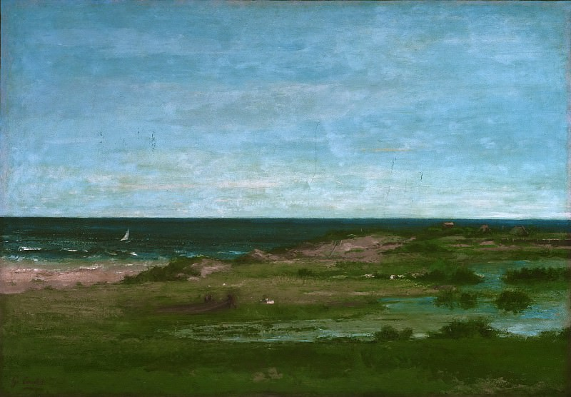 Gustave Courbet, French, 1819-1877 -- Coast Scene. Philadelphia Museum of Art