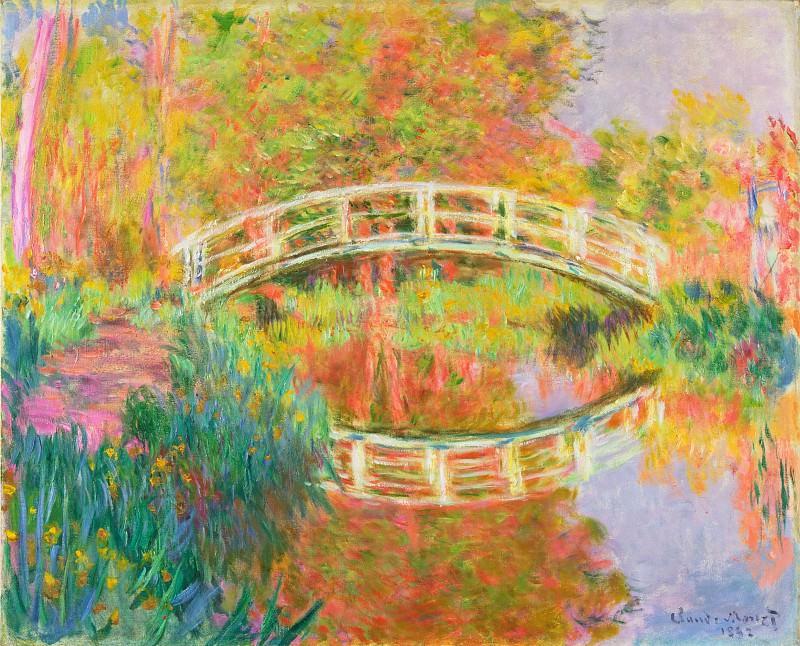 Claude Monet, French, 1840-1926 -- Japanese Footbridge, Giverny. Philadelphia Museum of Art