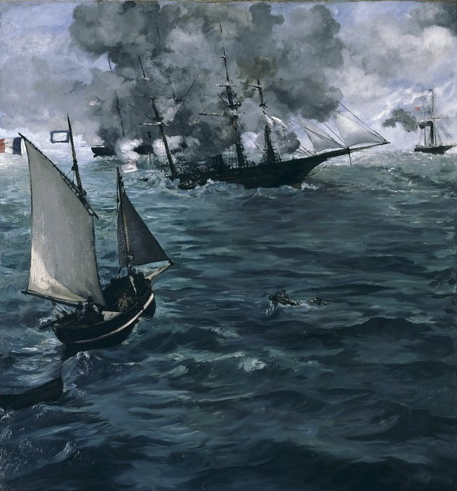 The Battle of the «Kearsarge» and the «Alabama». Édouard Manet