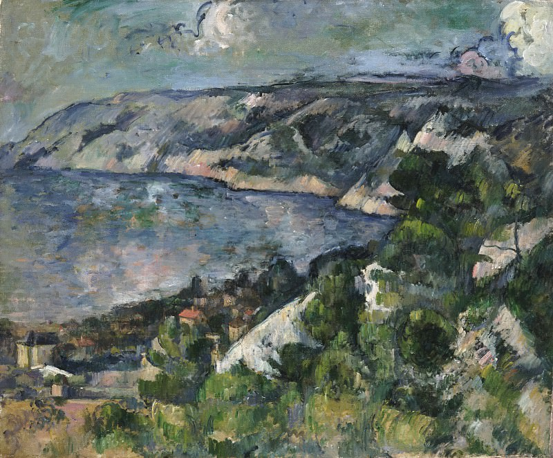 Paul Cézanne, French, 1839-1906 -- Bay of l'Estaque. Philadelphia Museum of Art