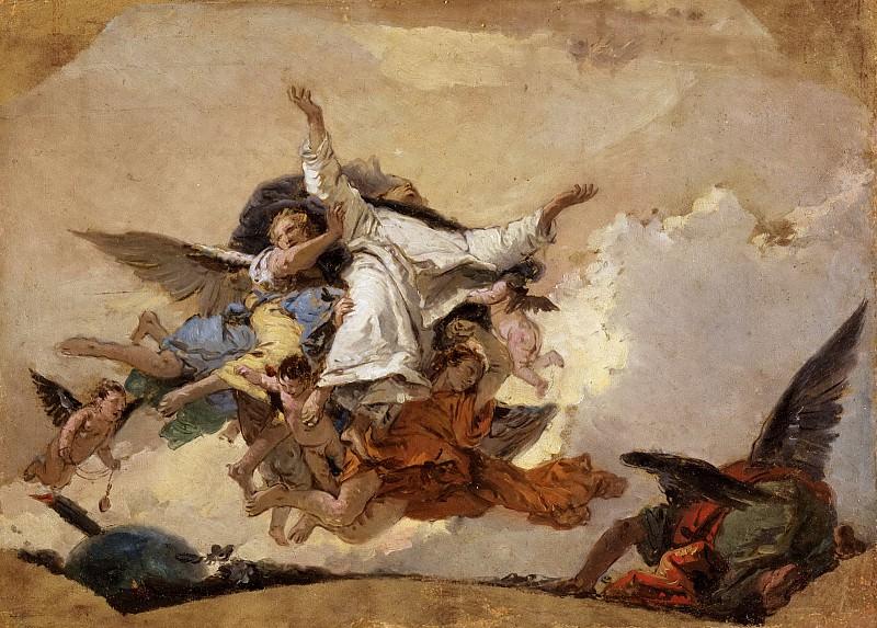 Набросок к картине «Святой Доминик в славе». Джованни Баттиста Тьеполо