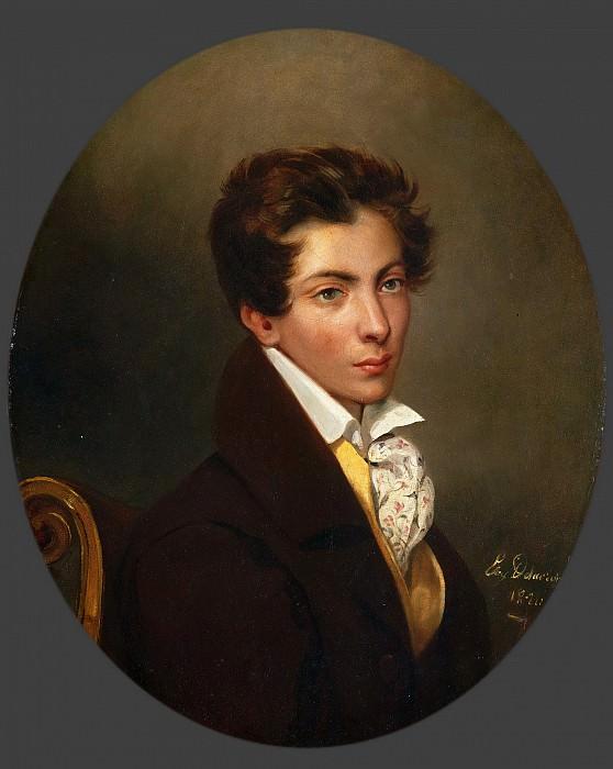 Ferdinand-Victor-Eugène Delacroix, French, 1798-1863 -- Portrait of Eugéne Berny d'Ouville. Philadelphia Museum of Art