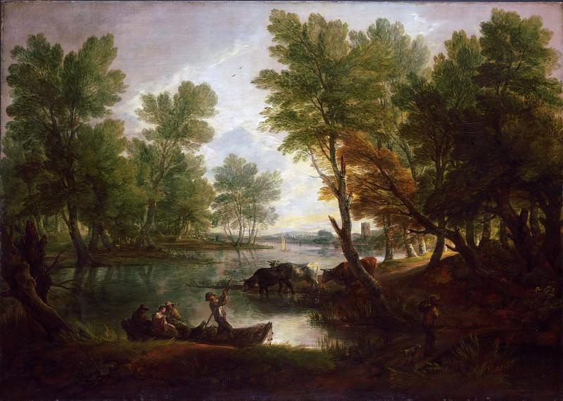 Гейнсборо, Томас (1727 Садбери - 1788 Лондон) - Вид у Кингс-Бромли, на реке Трент, Стаффордшир. Музей искусств Филадельфии