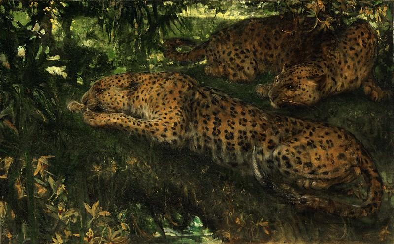 Swan, John Macallan (1846–1910) - In Ambush. Philadelphia Museum of Art