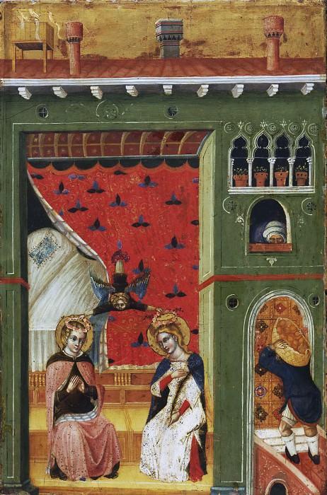 Мастер Распятия Пезаро (работал в Венеции ок1375-00) -- Увенчание святой Цецилии и ее мужа Валериана. Музей искусств Филадельфии