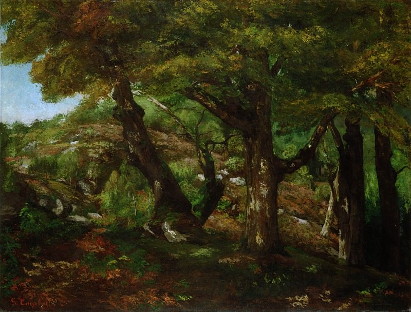 Gustave Courbet, French, 1819-1877 -- The Fringe of the Forest. Philadelphia Museum of Art
