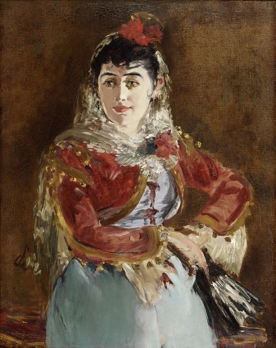 Édouard Manet, French, 1832-1883 -- Portrait of Émilie Ambre as Carmen. Philadelphia Museum of Art