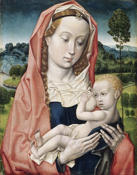 Attributed to Hugo van der Goes, Netherlandish (active Ghent), first documented 1467, died 1482 -- Virgin and Child. Philadelphia Museum of Art
