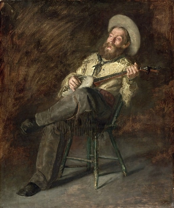 Thomas Eakins, American, 1844-1916 -- Cowboy Singing. Philadelphia Museum of Art