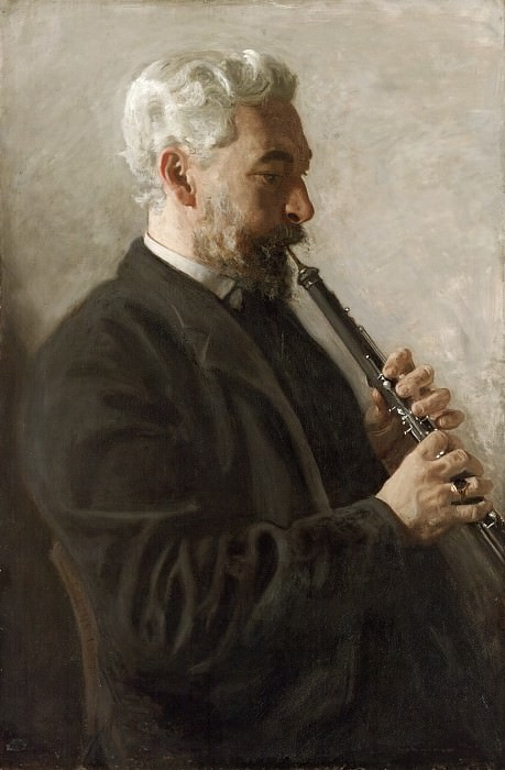 Thomas Eakins, American, 1844-1916 -- The Oboe Player (Portrait of Dr. Benjamin Sharp). Philadelphia Museum of Art