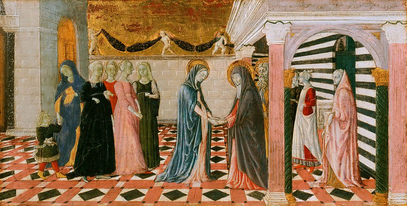 Giovanni di Pietro, also called Nanni di Pietro, Italian (active Siena), documented 1439-68, died before 1479 -- Virgin Returning to the House of Her Parents. Philadelphia Museum of Art