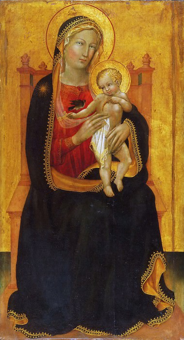 Battista di Gerio, Italian (active Pisa), documented 1418-1433 -- Enthroned Virgin and Child. Philadelphia Museum of Art