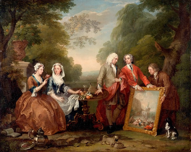 William Hogarth, English, 1697-1764 -- Conversation Piece (Portrait of Sir Andrew Fountaine with Other Men and Women). Philadelphia Museum of Art